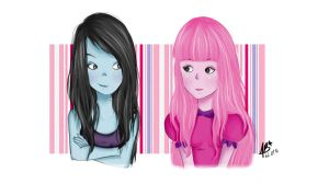 Marceline and Princess Bubblegum by anabloom20