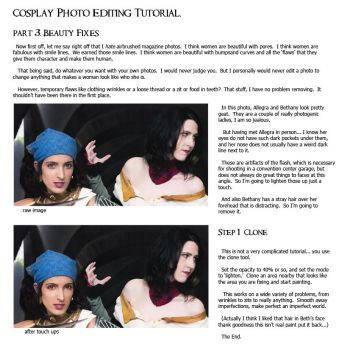 Cosplay PS Tutorial, p3: Beauty Fixes by jancola