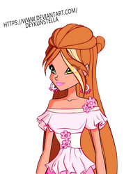 Flora Winx Png by DeykunStella