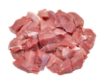 Pieces of raw meat for cooking. by PRUSSIAART