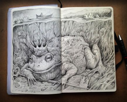 King Frog and the secret ot the lake by sabin-boykinov