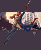 Ultimate Spidey and Mary Jane by ComfortLove