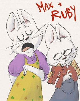 HEY ITS MAX AND RUBY by Zeddyzi