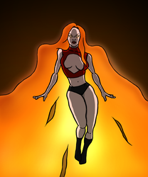 Fire girl by Rsuperz