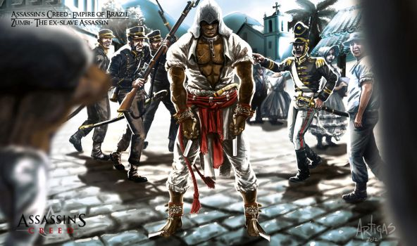 Assassins Creed in Brazil Game Art by Artigas