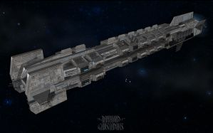 Sci-fi Warship concept by Shockbolt