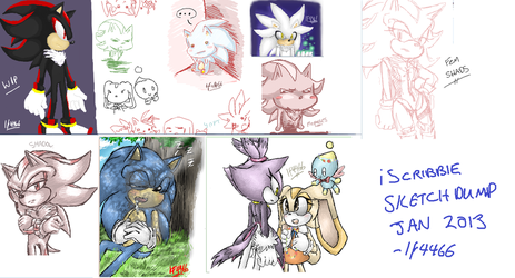 iScribble Sketch Dump January 2013 by BlueNeedle-Inu