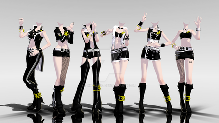 MMD Idolm@ster Outfits -DL- by KhrisMx