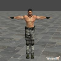 RE5 BSAA Shirtless Chris Model by toughraid3r37890