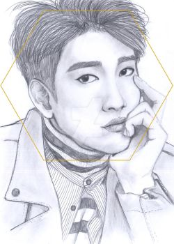 Jinyoug GOT7 portrait by Ecna-Tsonc
