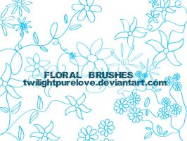 floral brushes by twilightpurelove
