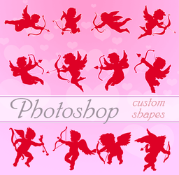 Valentine Cupids Photoshop Custom Shapes by flashtuchka