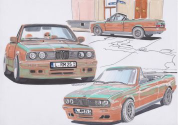 BMW 3 E30 Cabriolet by theTobs