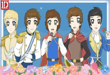 One Direction Disney Prince Charmings by OneDirectionFanJohn