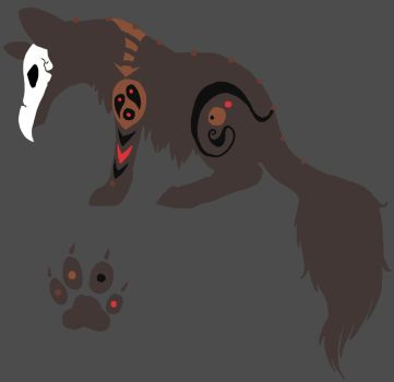 Tribal wolf - Hatched adoptable by EmberFlight