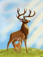 Bambi and The Great Prince of the Forest by Spartandragon12