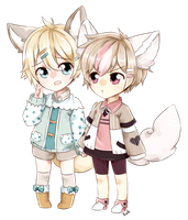 Keon and Wes by bunnilu