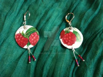 Retro Raspberry Candy Tin Earrings by Omaline