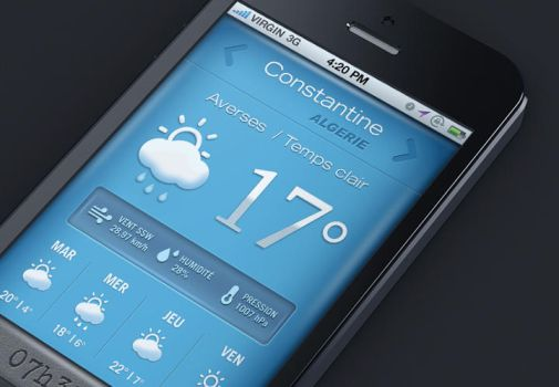 Mobile weather app by isorun