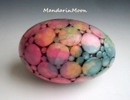 Fun Polymer Clay Egg by MandarinMoon