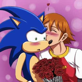 Happy valentine , Sonic by hinarin