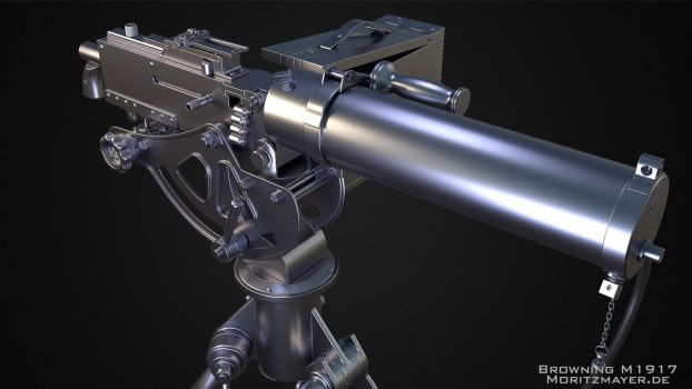 Browning M1917 Highpoly V2.0 by Kn3chtRuprecht