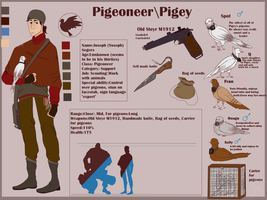 Pigeoneer (TF2 fan character) 10th class by GwalleyVDelli