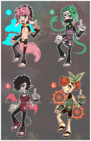 ...Colorful Cuties... ADOPTS // 2/4 [OPEN] by Seelenbasar