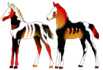 Halloween foals by theliondemon-kaimra