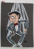 pee-wee puppet by mikedestructive
