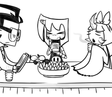 IZ headcanon: Tea and chips by Glitched-Irken
