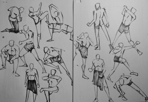 Brushpen Gestures by acrazymind