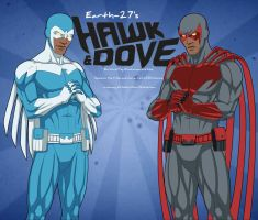 [Earth-27: Rosters] The original Hawk and Dove by Roysovitch