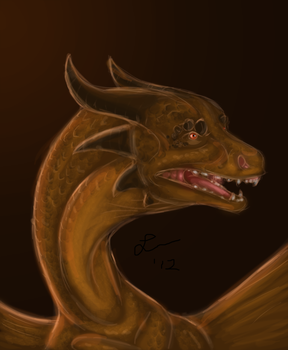 Bronze Dragon by Cheddarness8