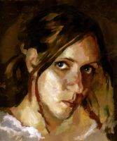Quick Painting  Woman Portrait by SILENTJUSTICE