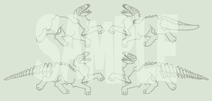 Skull dog adoptable lineart (pay to use) by Shegoran