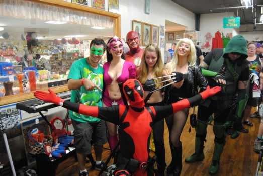 In a Group of Heroes it is ALWAYS about Deadpool by agentpalmer