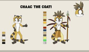 Chaac The Coati reference by ChiptheHedgehog
