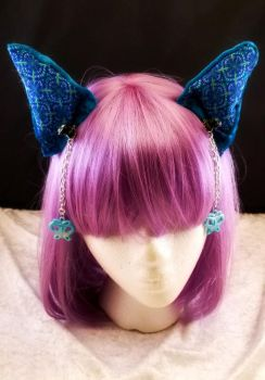 I'm all ears!  Turquoise with charms by cupcakedoll