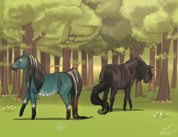 Meeting in the Forest by CrackMonster
