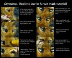realistic scar in a furred mask tutorial by Crystumes