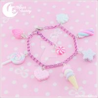 Sweet candy mix Bracelet by CuteMoonbunny