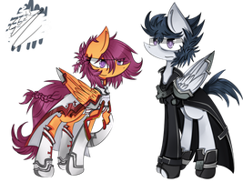 Rumble and Scootaloo Sword Art Online Crossover by Rigiroony