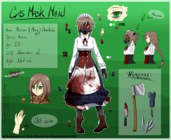 -CP/Normal OC- Gas Mask Maid/Mary REF 2018 by NaughtyKittyDV-1992