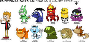 THE LOUD HOUSE style - Emotional Norman (By Me) by rizegreymon22