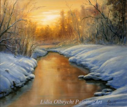 Sunset in winter by Lidmar