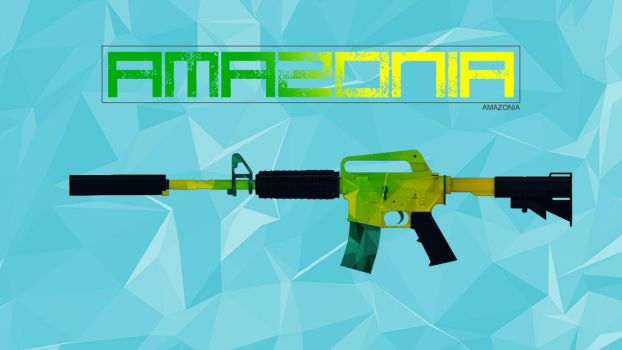 m4a1-s| AMAZONIA by lhdcdesign