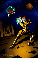 Samus and the Baby by Zelengeist
