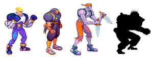 Captain Commando, pixel upgrade. by Omegachaino