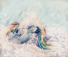 Rainbow crash by Ferasor